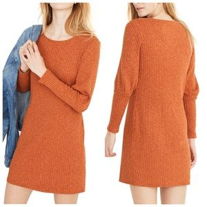 MADEWELL Ribbed Bubble-Sleeve Dress